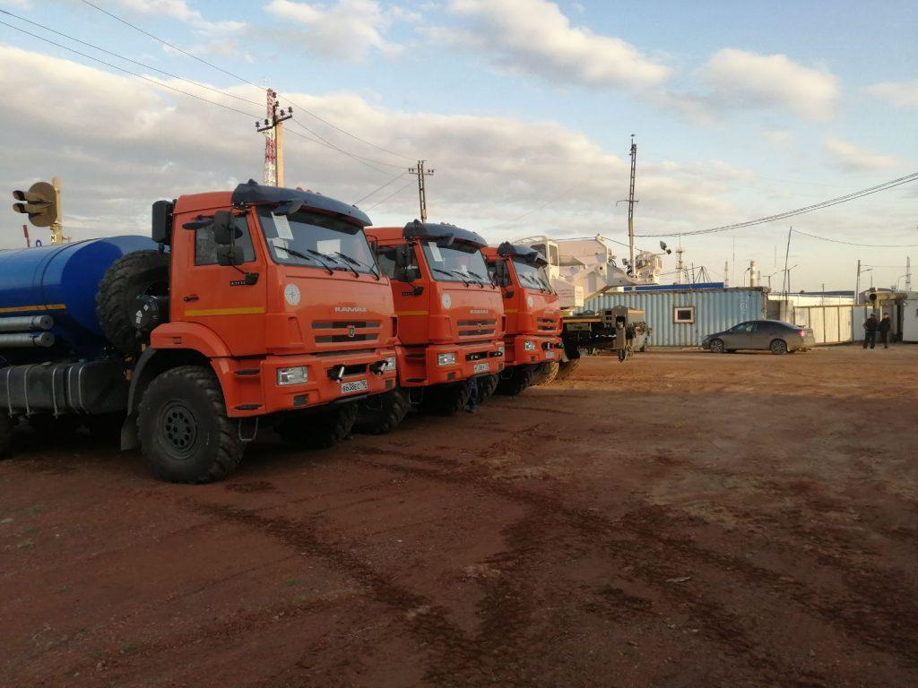 Перегон автомобилей КАМАЗ в Челябинск