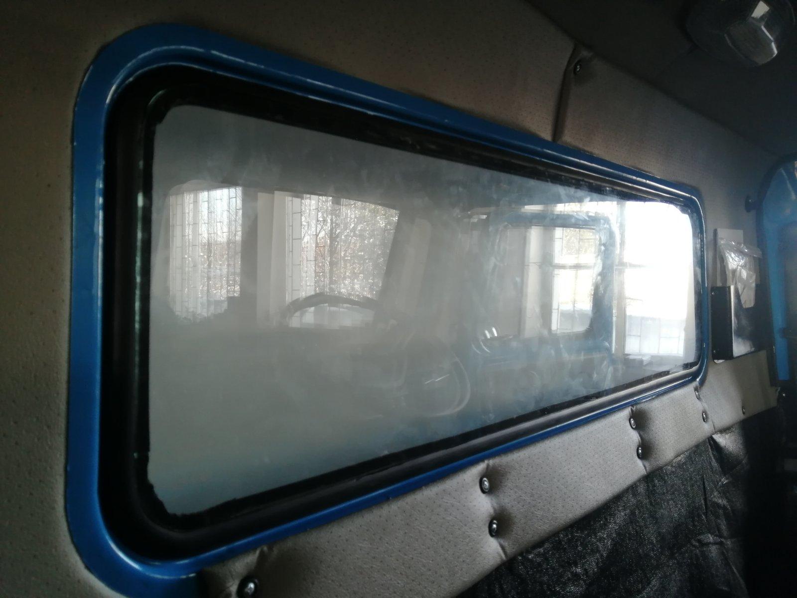 Установка двойного стеклопакета на Урал_3