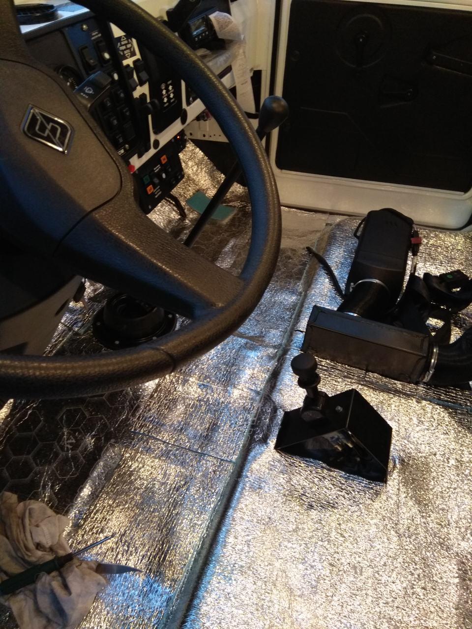 Утепление кабины водителя (пенофол) на УРАЛ и КАМАЗ