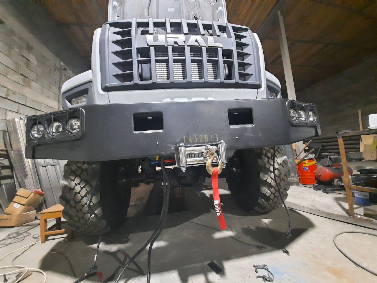 Урал NEXT установка электрической лебедки и задних крыльев