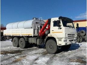 Бортовой КАМАЗ 43118-50 с КМУ PALFINGER РК 6500А + автоцистерна АЦПТ с насосом