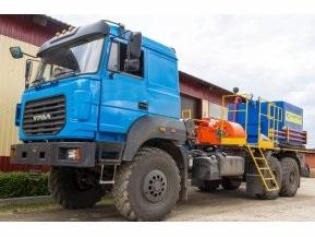 Цементировочный агрегат СИН35 на шасси Урал 4320-80 с ВПБ