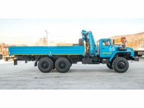 Бортовой Урал 4320 (капотный) с КМУ ИМ-55