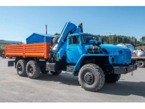 Бортовой Урал 4320 (капотный) с КМУ ИМ-95