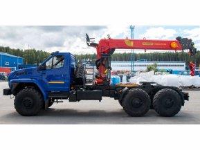 Седельный тягач Урал Next 4320-72 с КМУ ИТ-150 (тросовый)