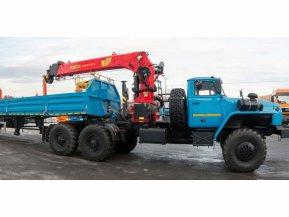Седельный тягач Урал 4320-60 с КМУ ИТ-200 (тросовый)