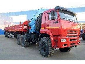Седельный тягач на шасси КАМАЗ 65221 с КМУ ИМ-95