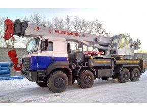 Автокран Челябинец КС-65717-34 на шасси Урал 9593 (8х8)