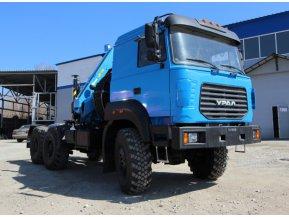 Седельный тягач Урал 44202-82 (бескапотный) с КМУ ИМ-240