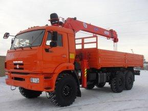 Бортовой автомобиль КАМАЗ-43118-50 с КМУ Kanglim KS1256G-II (тросовый)
