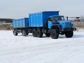 Самосвал-углевоз на шасси Урал 55571
